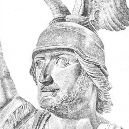Hermanns Portrait, Ausschnitt aus einer Bleistiftzeichnung